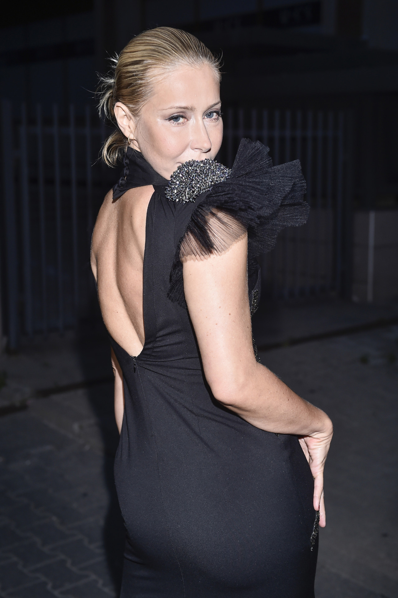 Katarzyna Warnke w eleganckiej sukience.