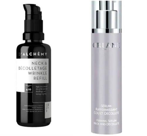 Kosmetyki do pielęgnacji skóry szyi i dekoltu.