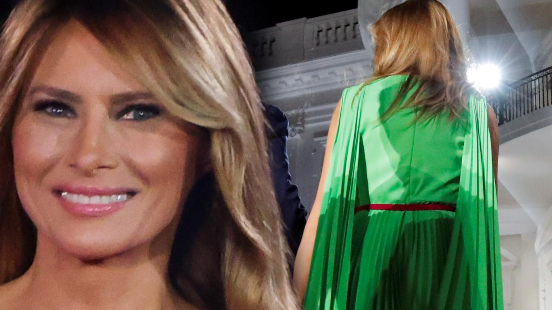 Melania Trump pojawiła się w dwóch kreacjach przed Białym Domem. Z jednej internauci mają ubaw(ZDJĘCIA)
