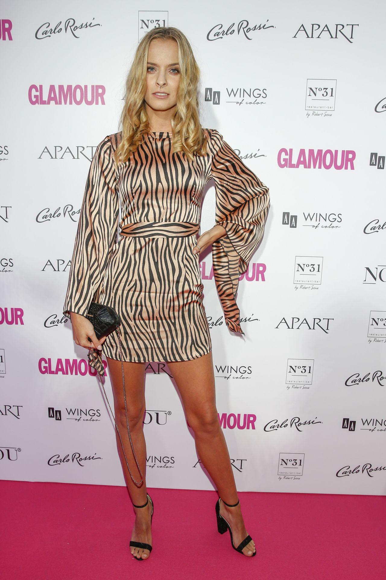Zuza Kołodziejczyk na imprezie Glamour