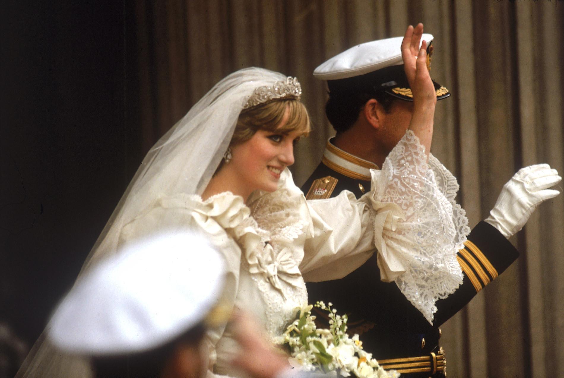 Diana i Karol w dniu ślubu, fot. Forum