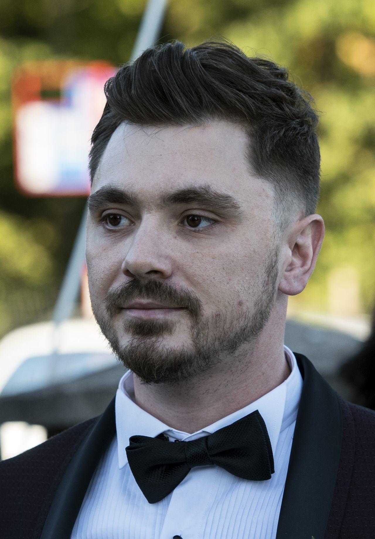 Daniel Martyniuk w dniu swojego ślubu.