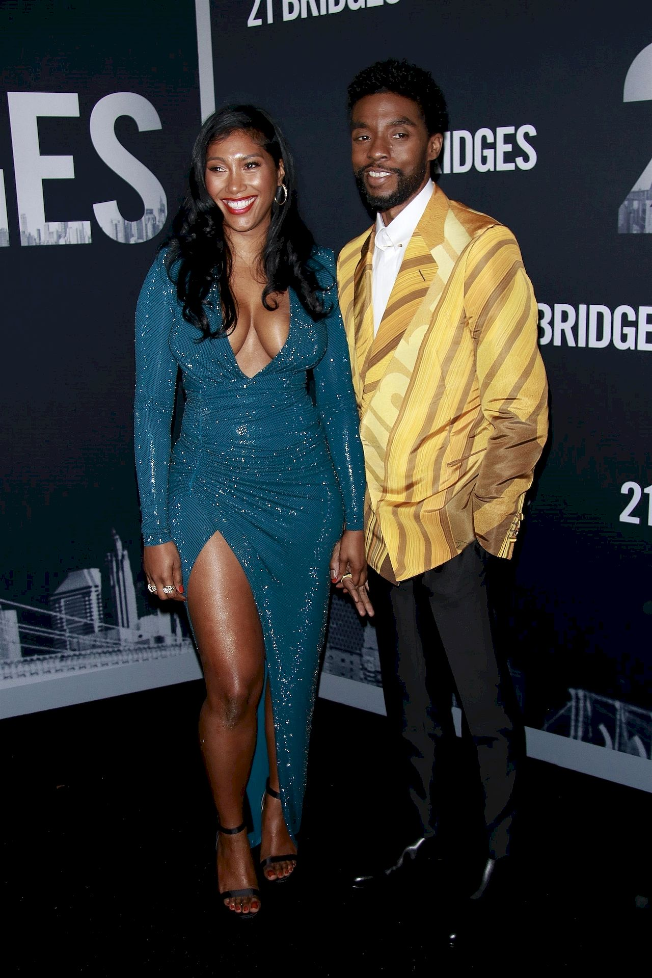 Chadwick Boseman z żoną