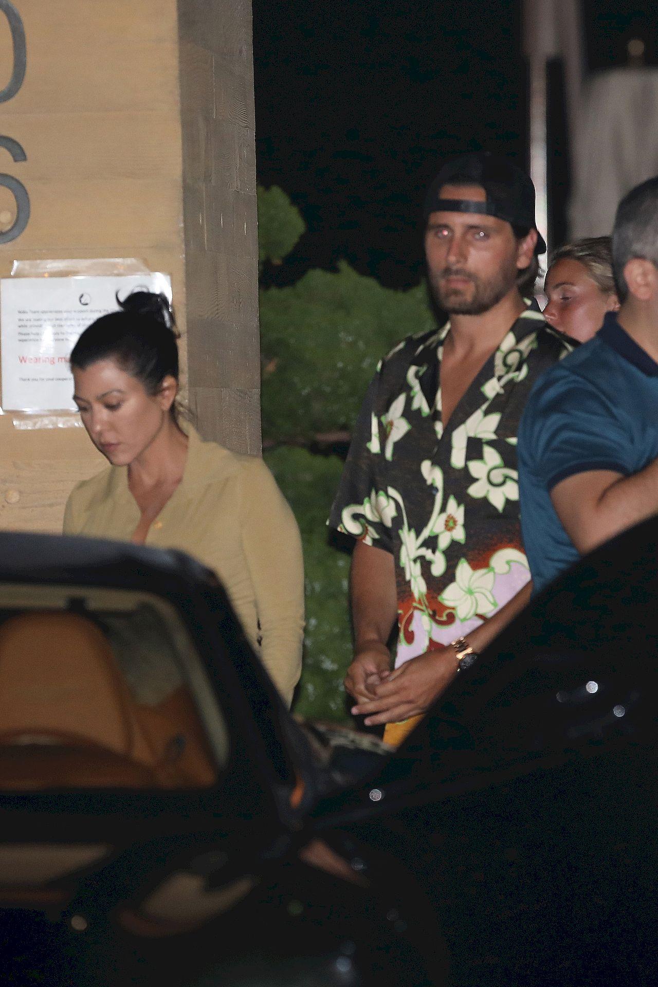 Kourtney Kardashian i Scott Disick wpadli na Sofię Richie