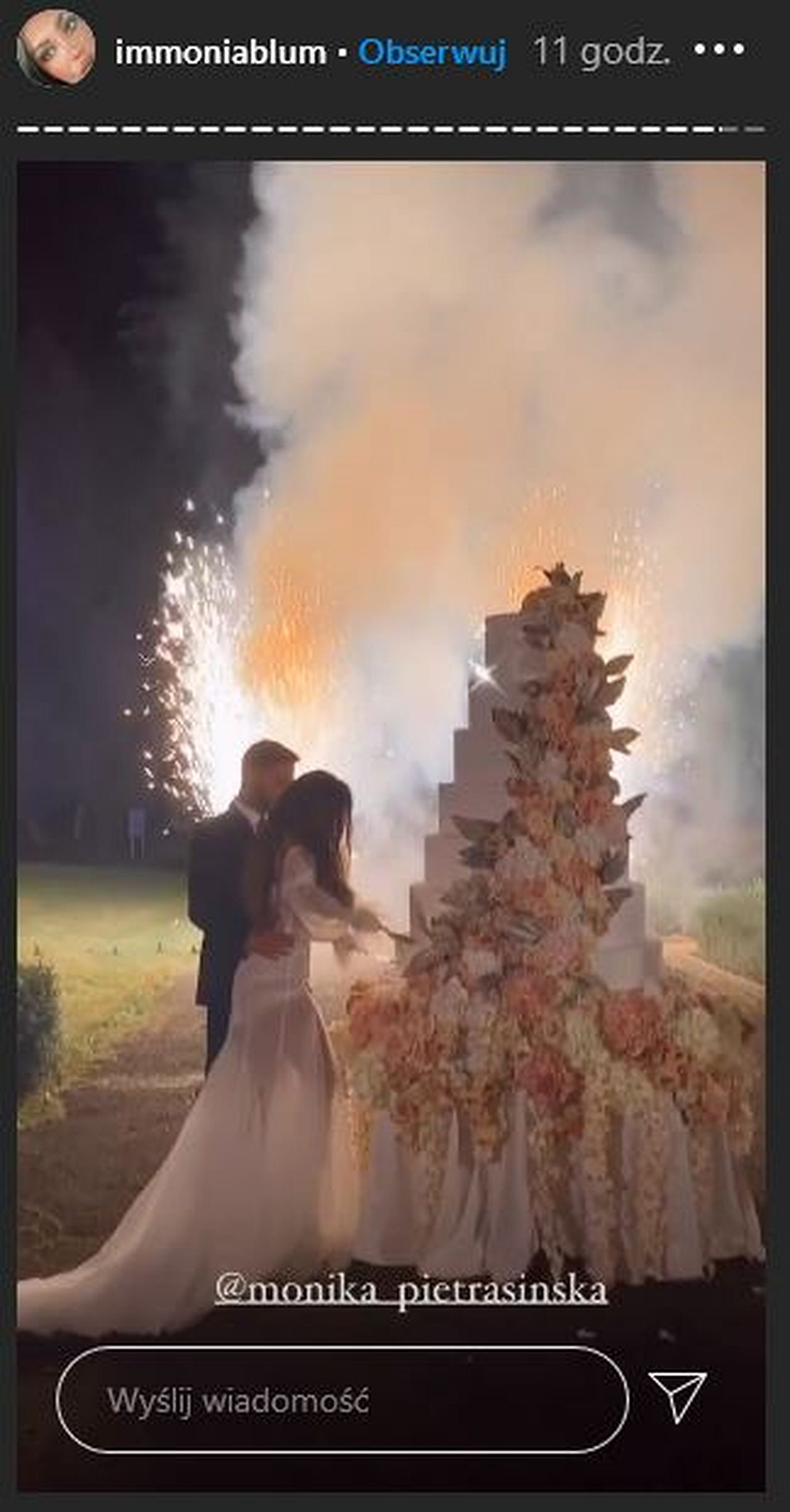 Para młoda miała gigantyczny tort
