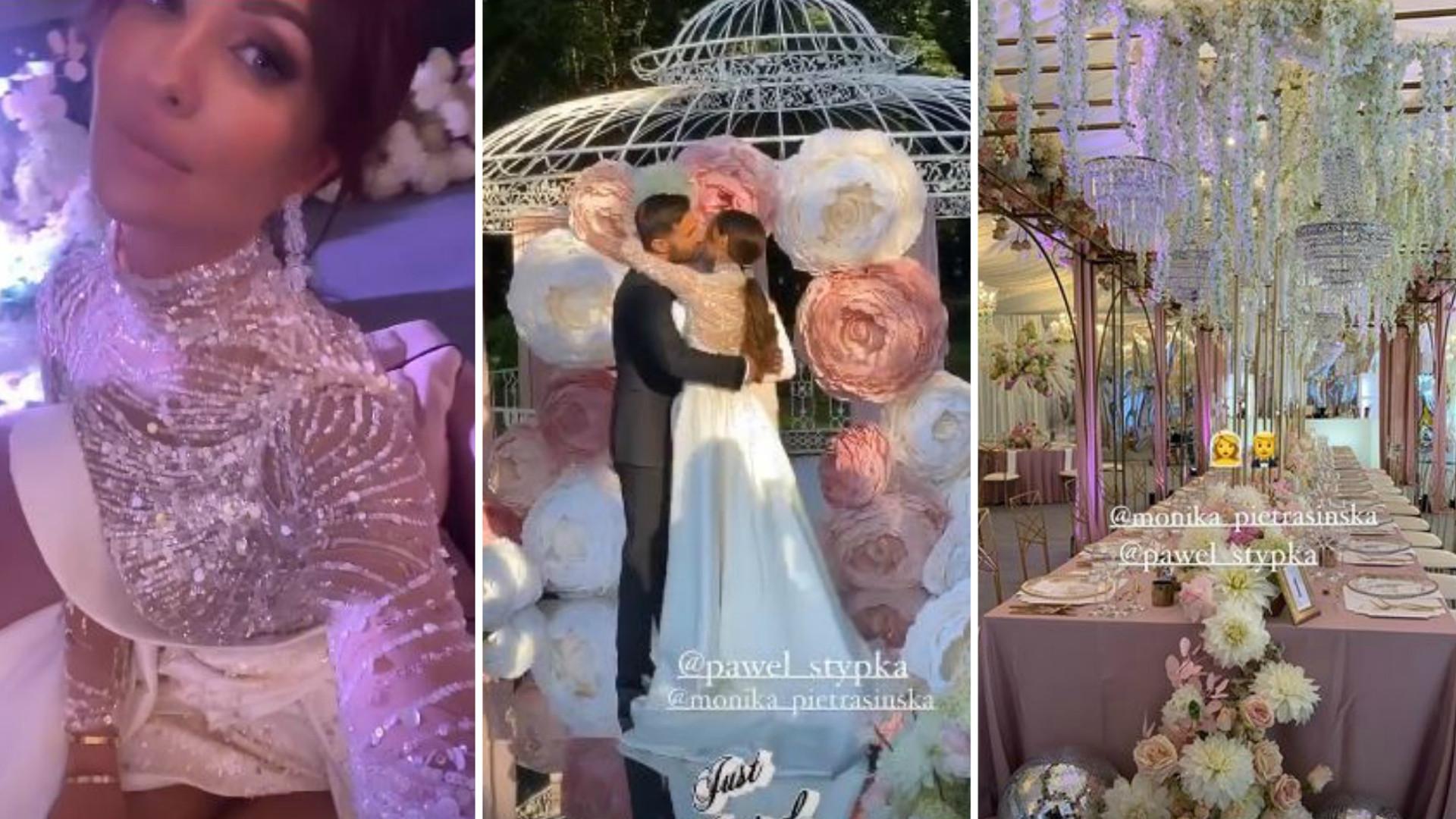 BAJKOWY ślub Moniki Pietrasińskiej – piękne suknie panny młodej i gigantyczny tort (ZDJĘCIA)