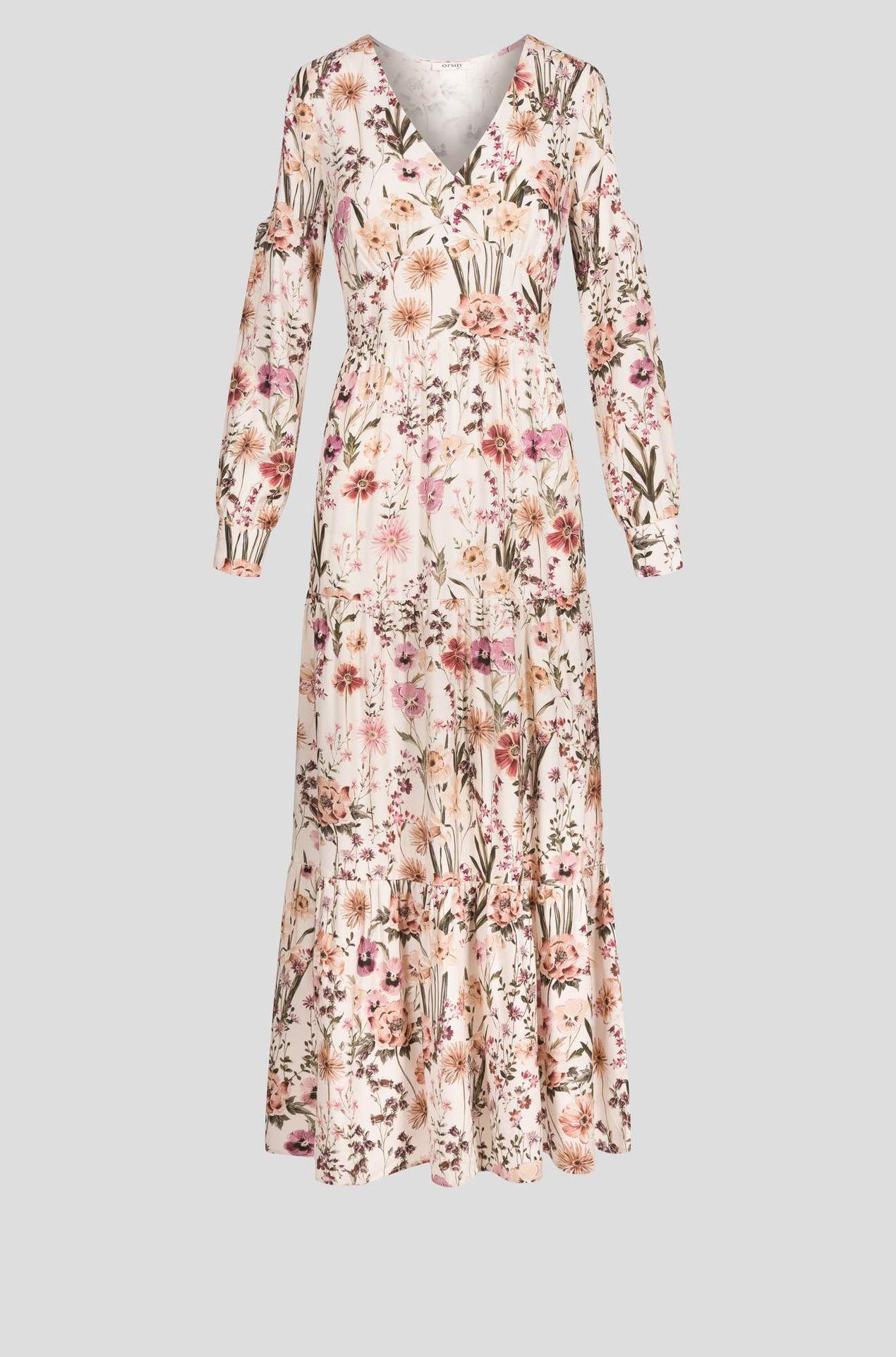 Biała sukienka w kwiatki