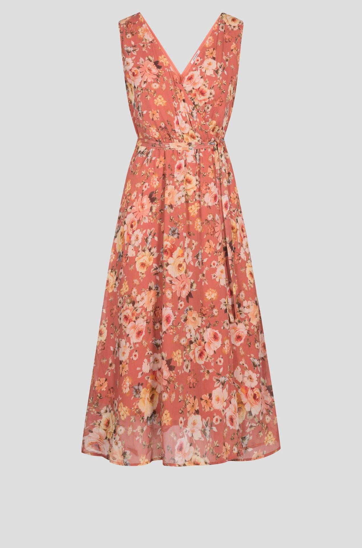 Różowa sukienka w kwiatki