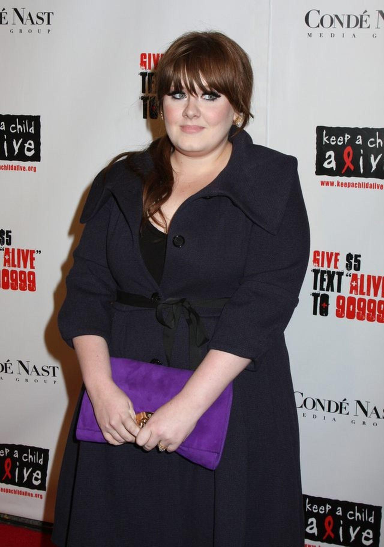 Adele przed odchudzaniem.