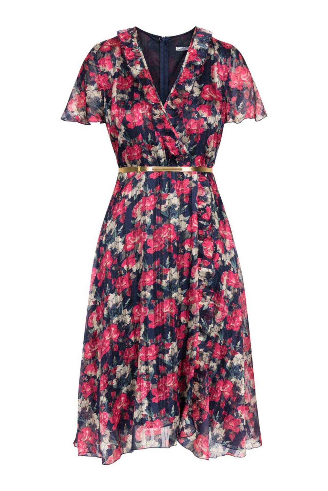 Sukienka midi w kwiatki