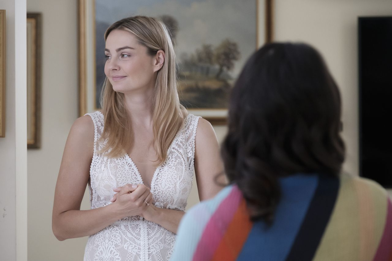 Małgorzata Socha w sukni ślubnek