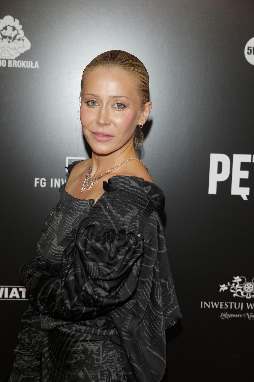 """Katarzyna Warnke na premierze filmu """"Pętla""""."""