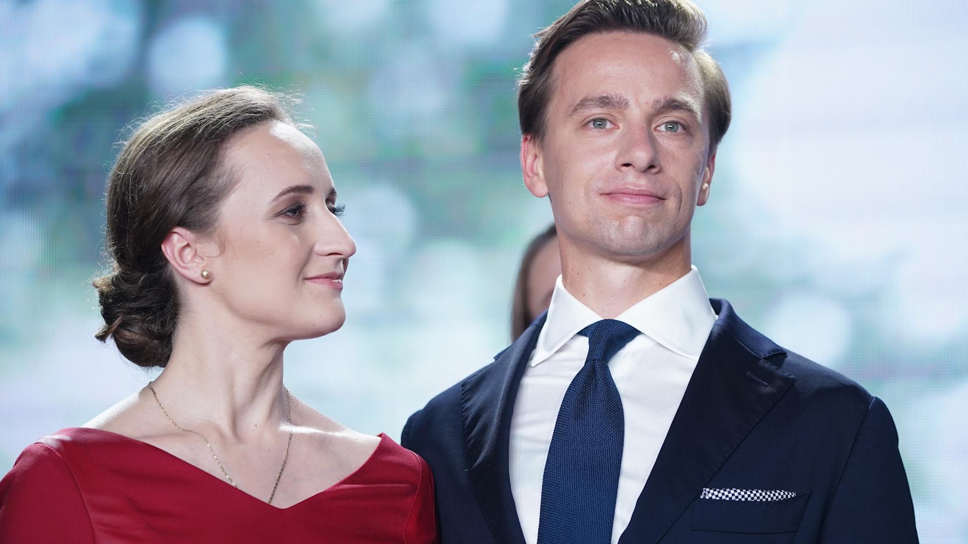 Krzysztof Bosak z żoną Kariną.