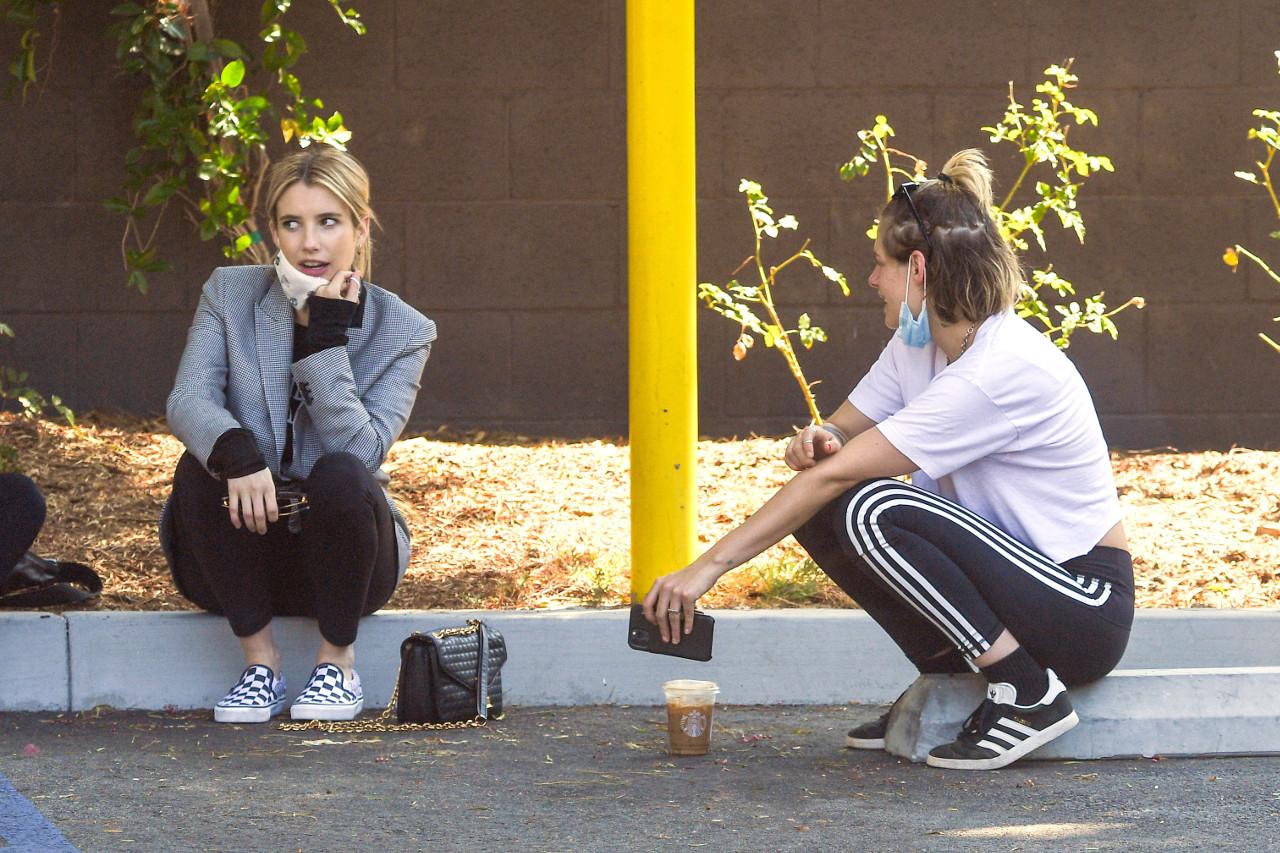 Emma Roberts spotkała się z Kristen Stewart.