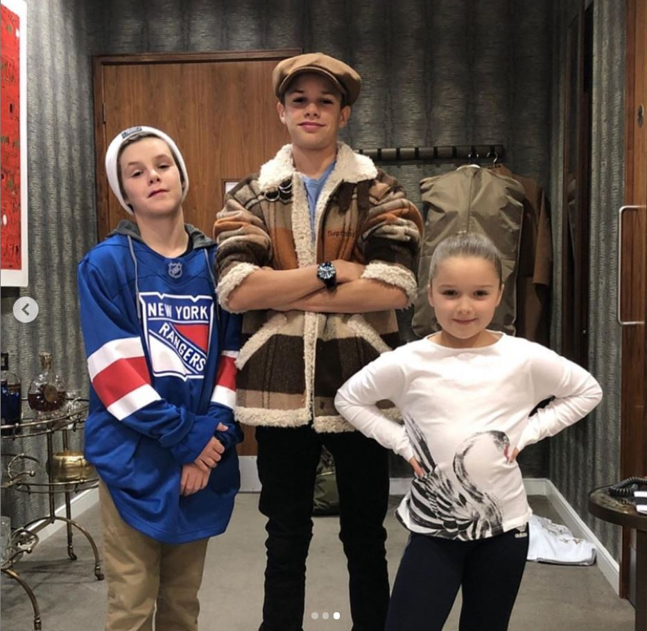 Harper, Cruz i Romeo Beckham, fot. Instagram @cruzbeckham