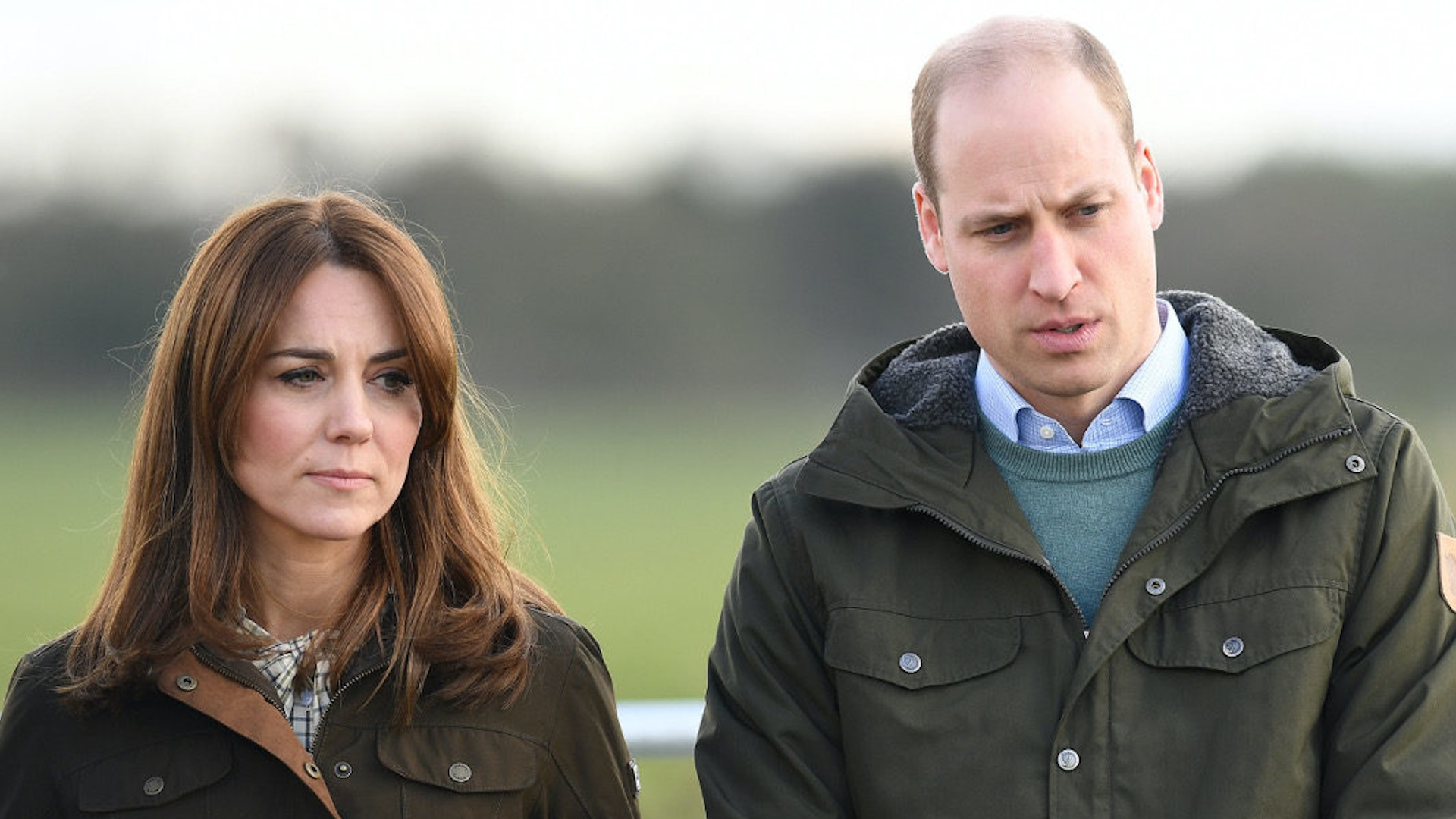 Smutni księżna Kate i książę WIlliam