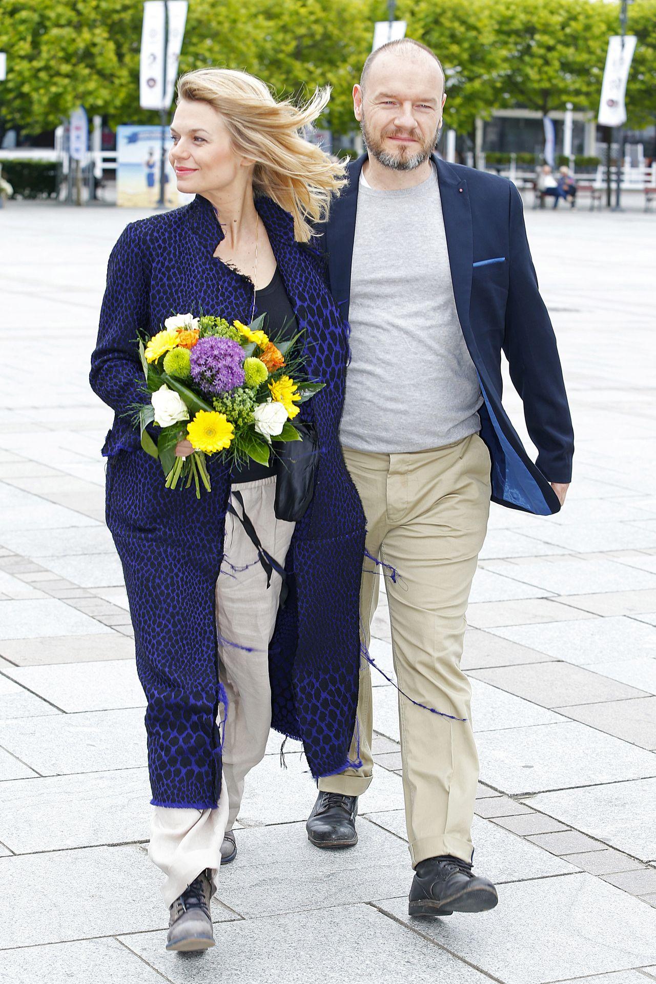 Emilia Komarnicka z mężem