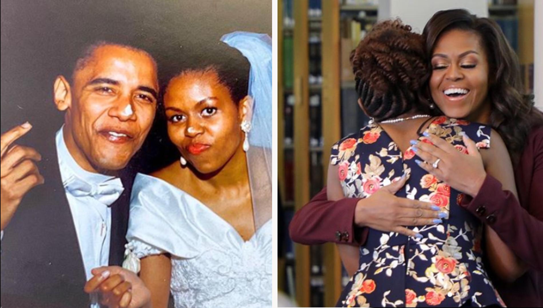 Michelle Obama UBRUDZONA tortem. Pokazała ślubne zdjęcie