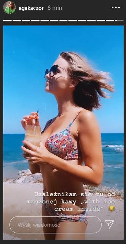 Agnieszka Kaczorowska w bikini