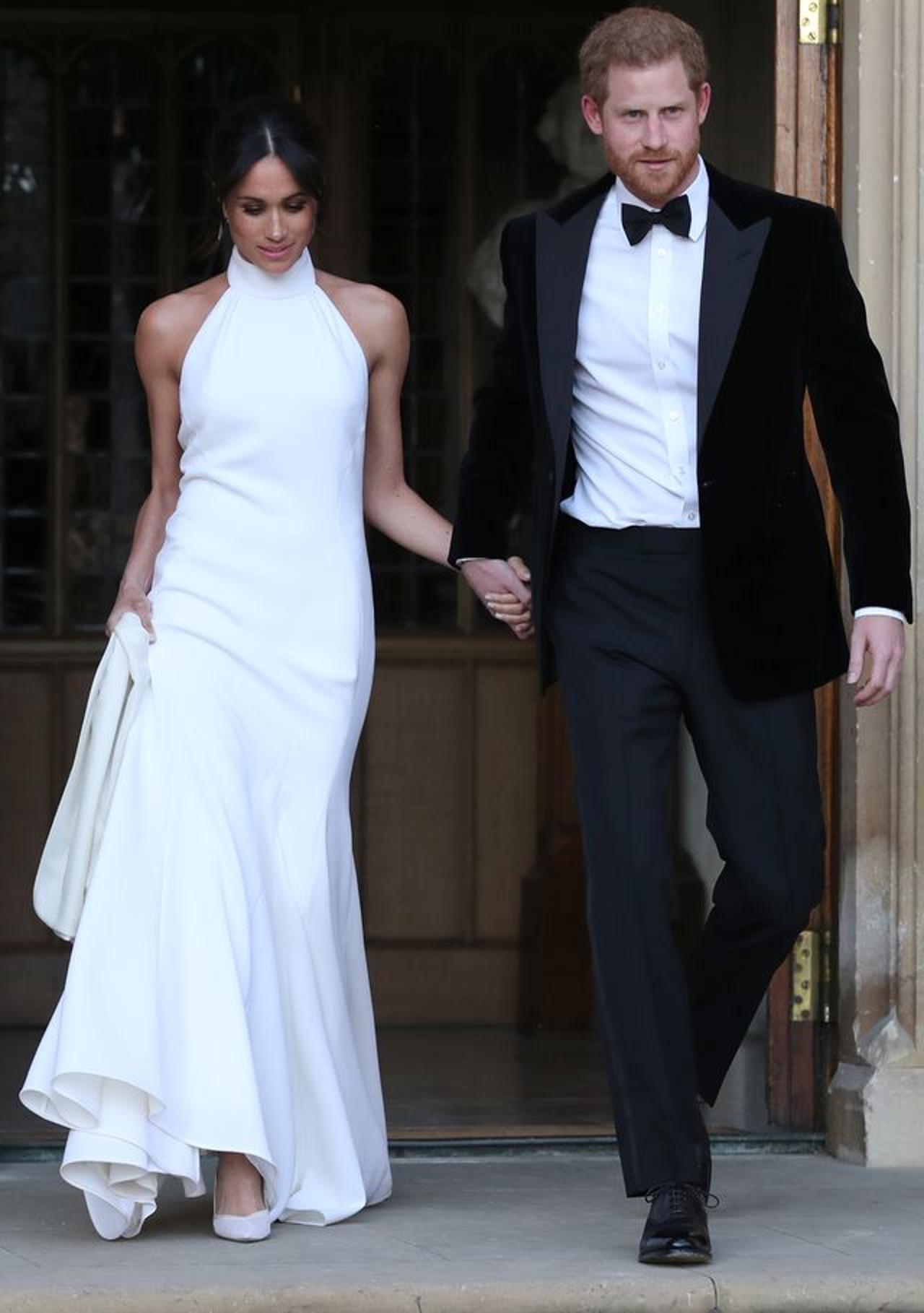Meghan Markle i Harry w dniu ślubu.