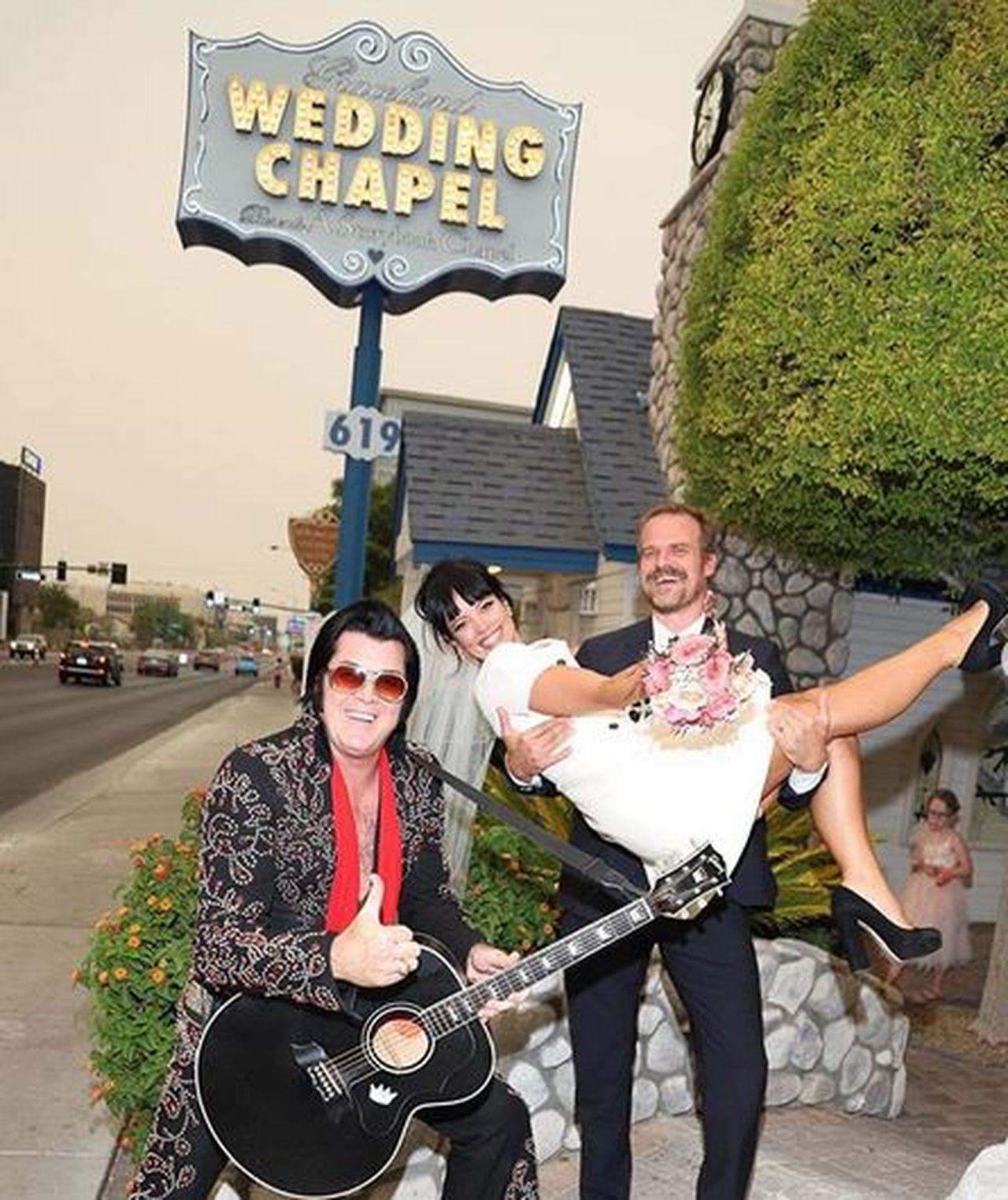 Lily Allen i David Harbour wzięli ślub w Las Vegas