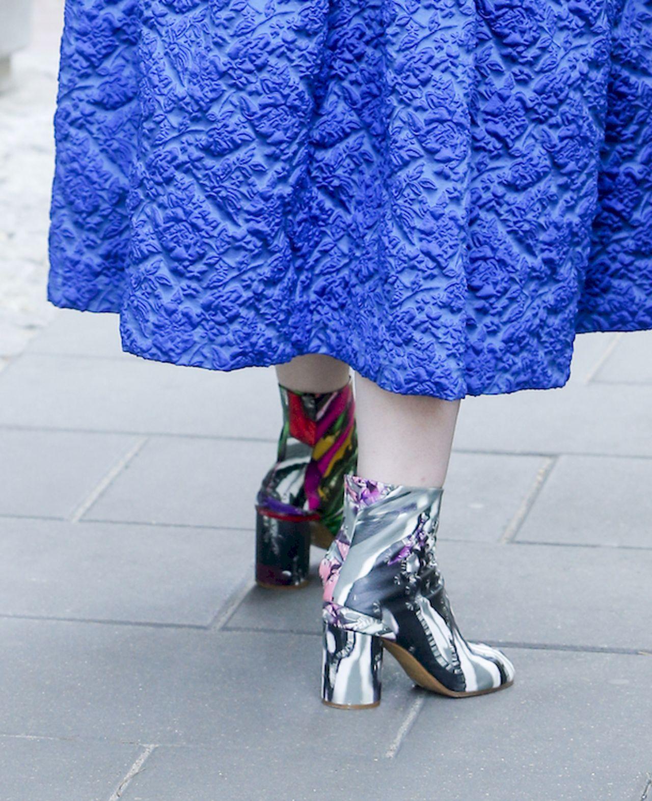 Katarzyna Nosowska w kolorowych botkach