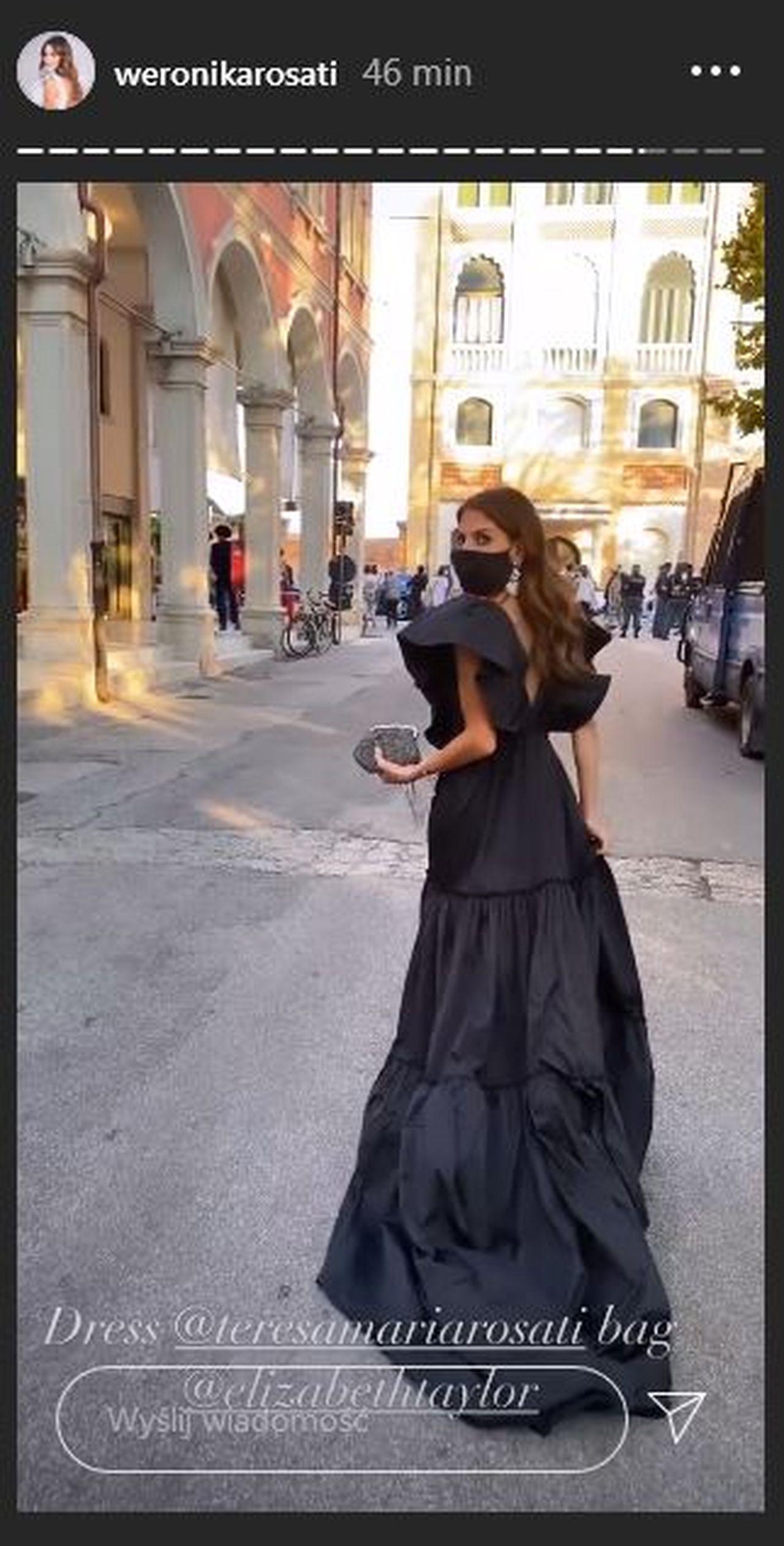 Weronika Rosati w sukni projektu swojej mamy