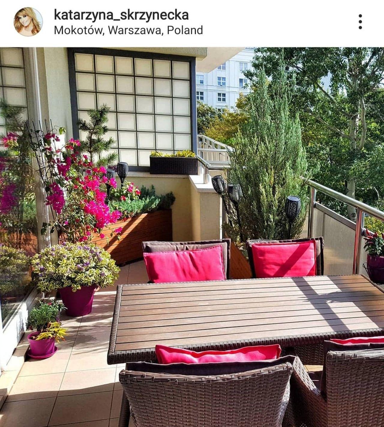 Katarzyna Skrzynecka pokazała balkon