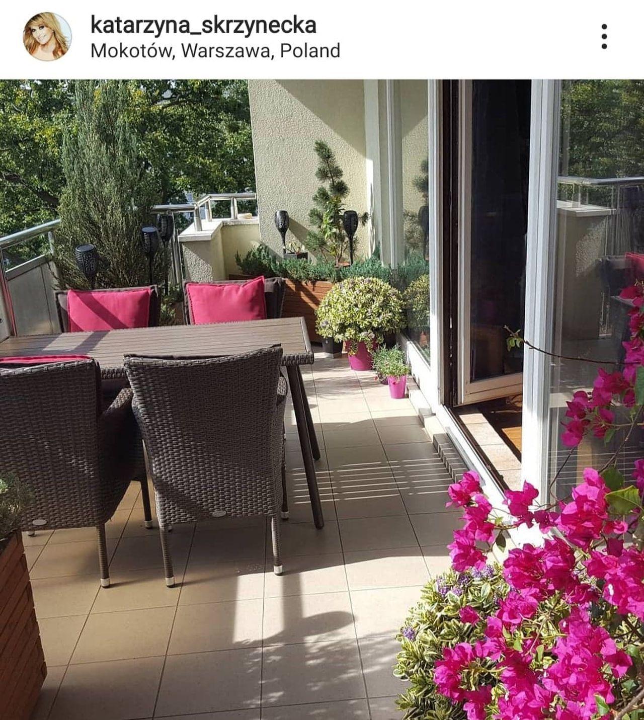 Katarzyna Skrzynecka chwali się balkonem