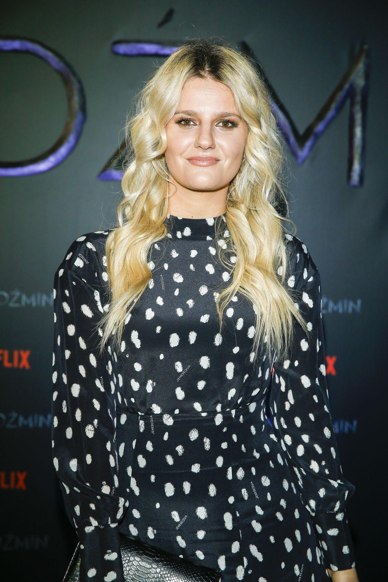 Zosia Zborowska na premierze filmu