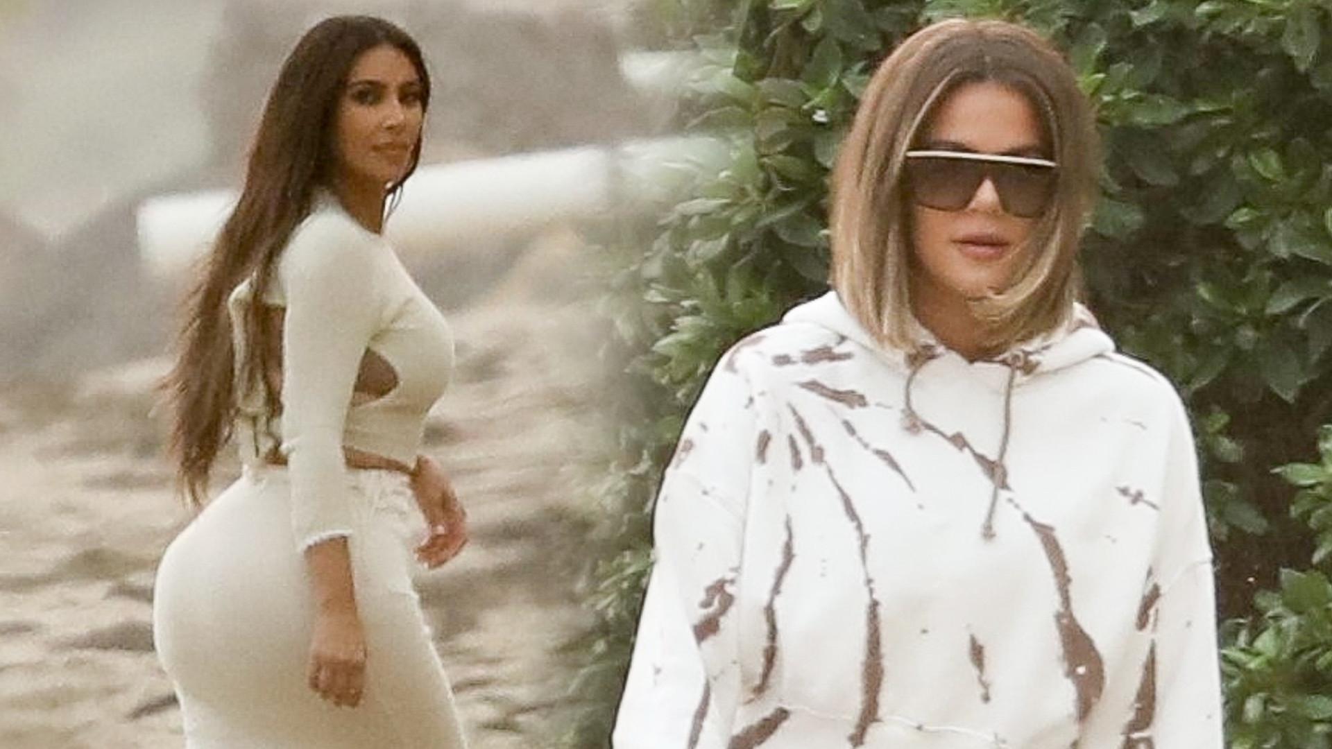 Kardashianki nagrywają OSTATNI sezon show – przybita Khloe i seksowna Kim (ZDJĘCIA)