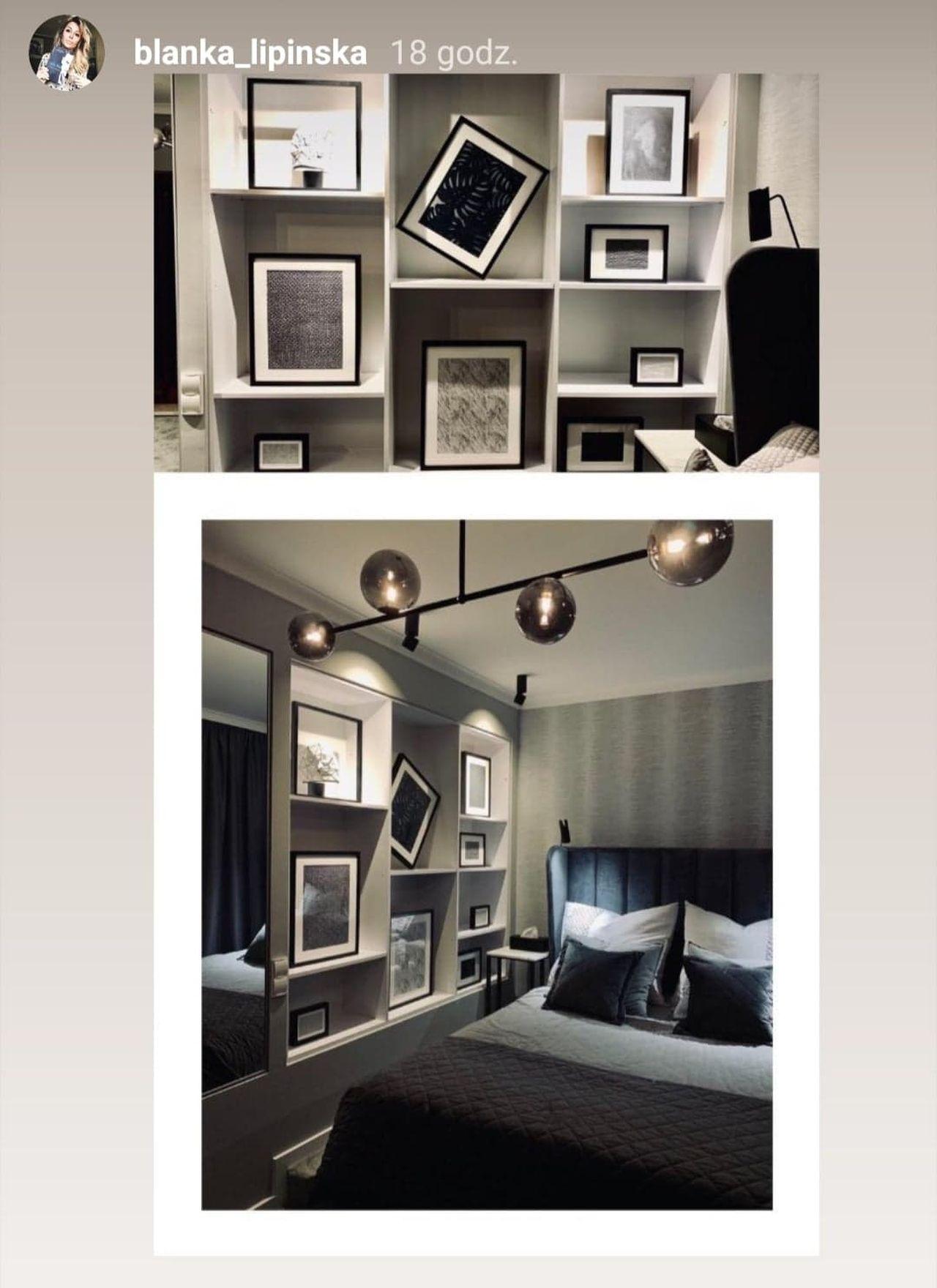 Blanka Lipińska pokazała wnętrze sypialni