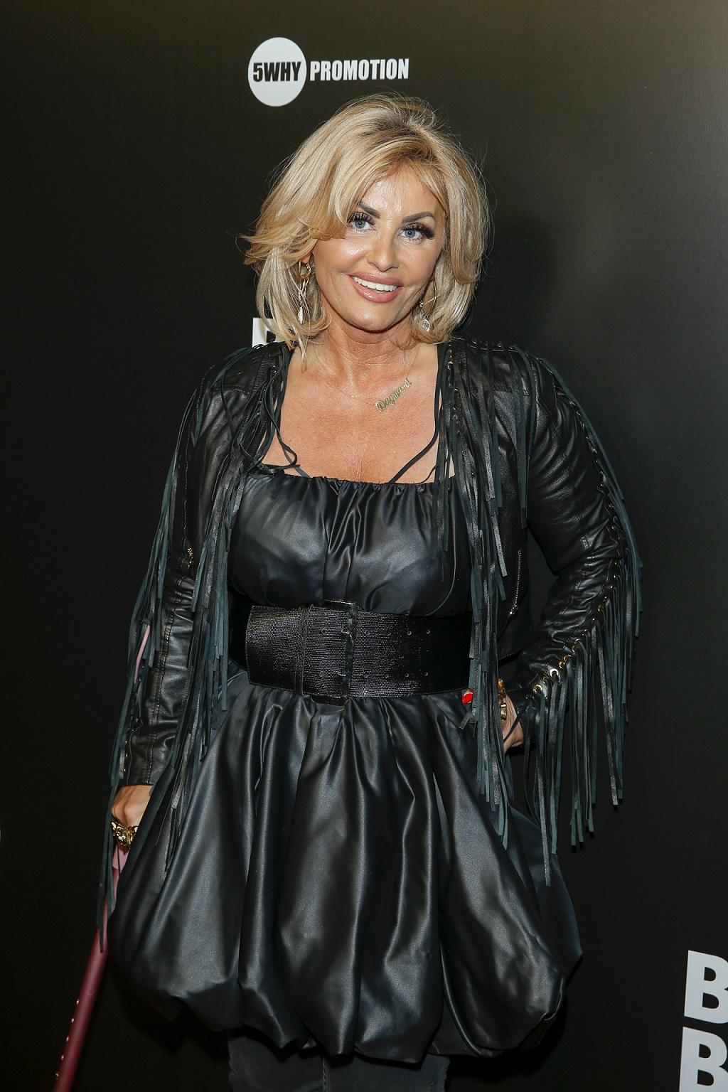 Dagmara Kaźmierska na premierze filmowej.
