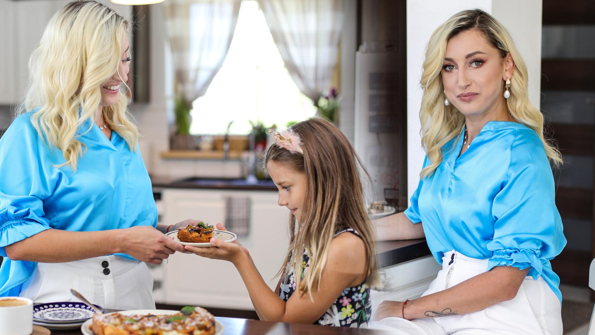 Justyna Żyła z córką Karoliną pracuje nad książką kucharską – przy okazji pokazała swoją piękną kuchnię (ZDJĘCIA)