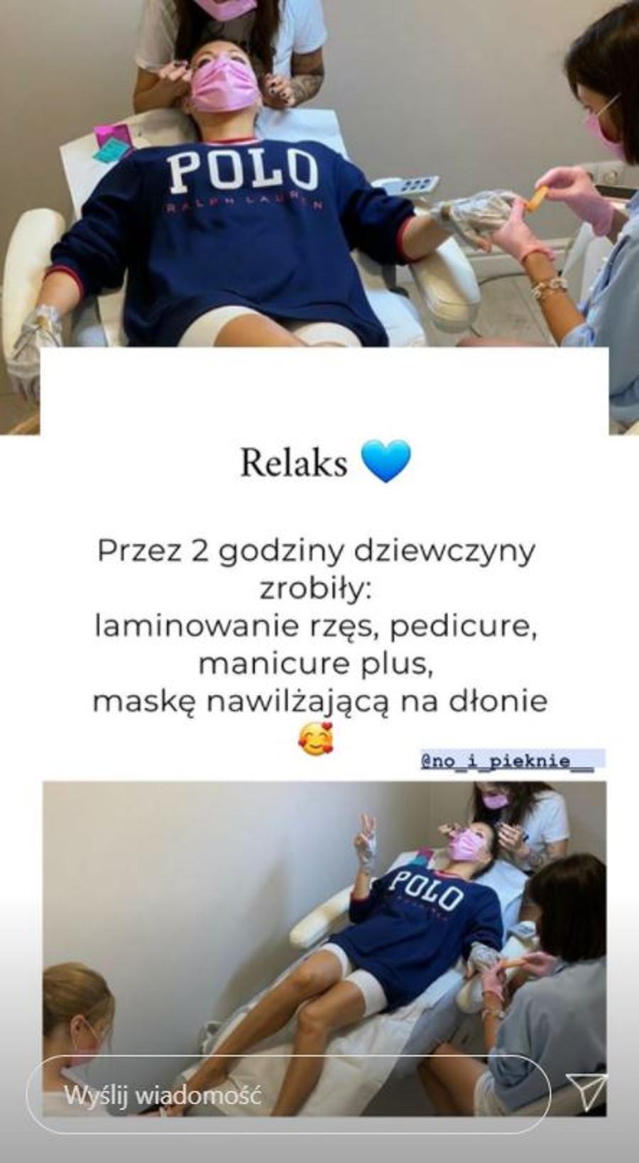 Małgorzata Rozenek u kosmetyczki.