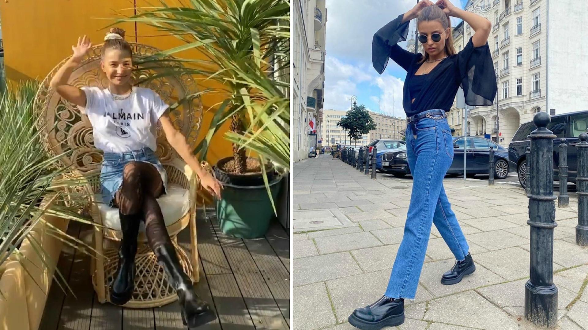 Julia Wieniawa w masywnych butach