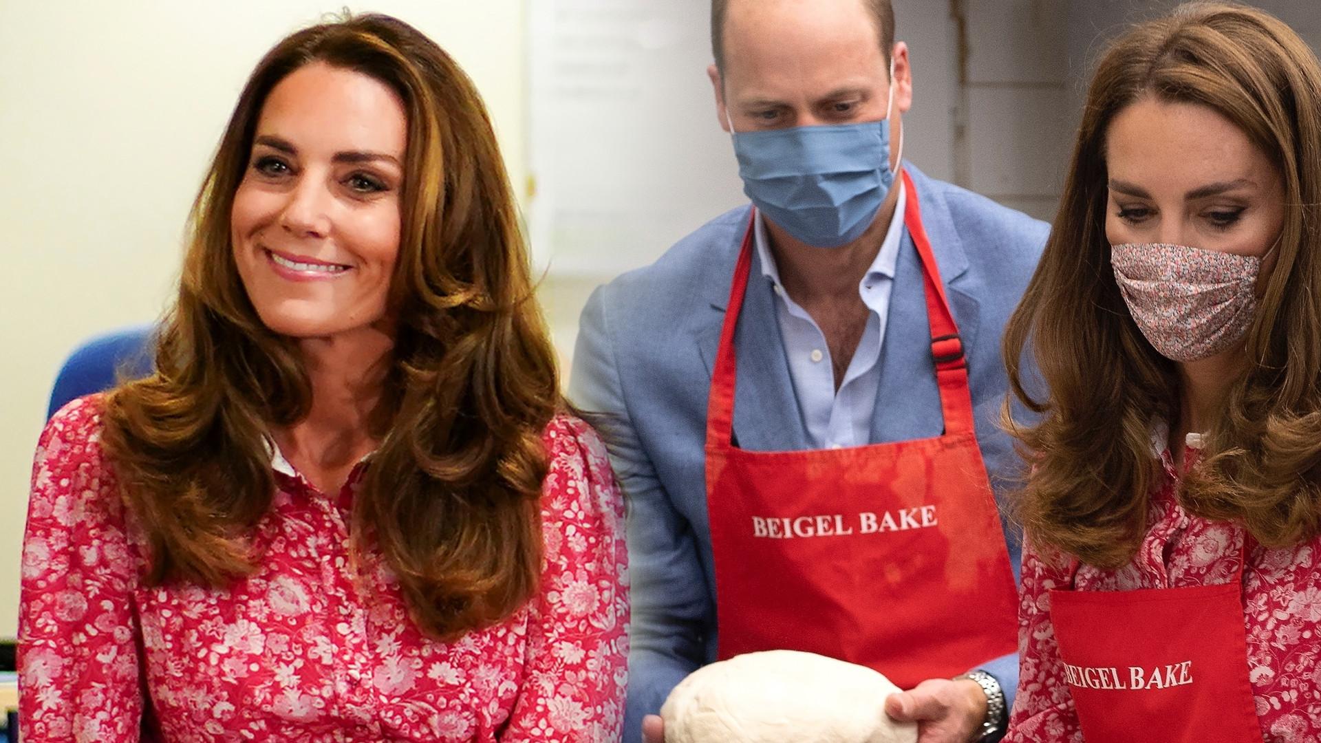 Kate i William odwiedzili piekarnię. Księżna w sukience za 2,5 tysiąca i nowych szpilkach (ZDJĘCIA)