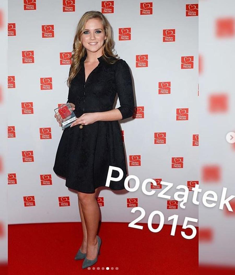 Agnieszka Kaczorowska w 2015 roku.