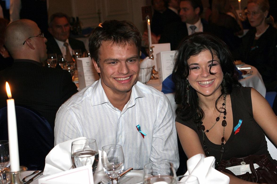 Katarzyna Cichopek i Marcin Hakiel na imprezie