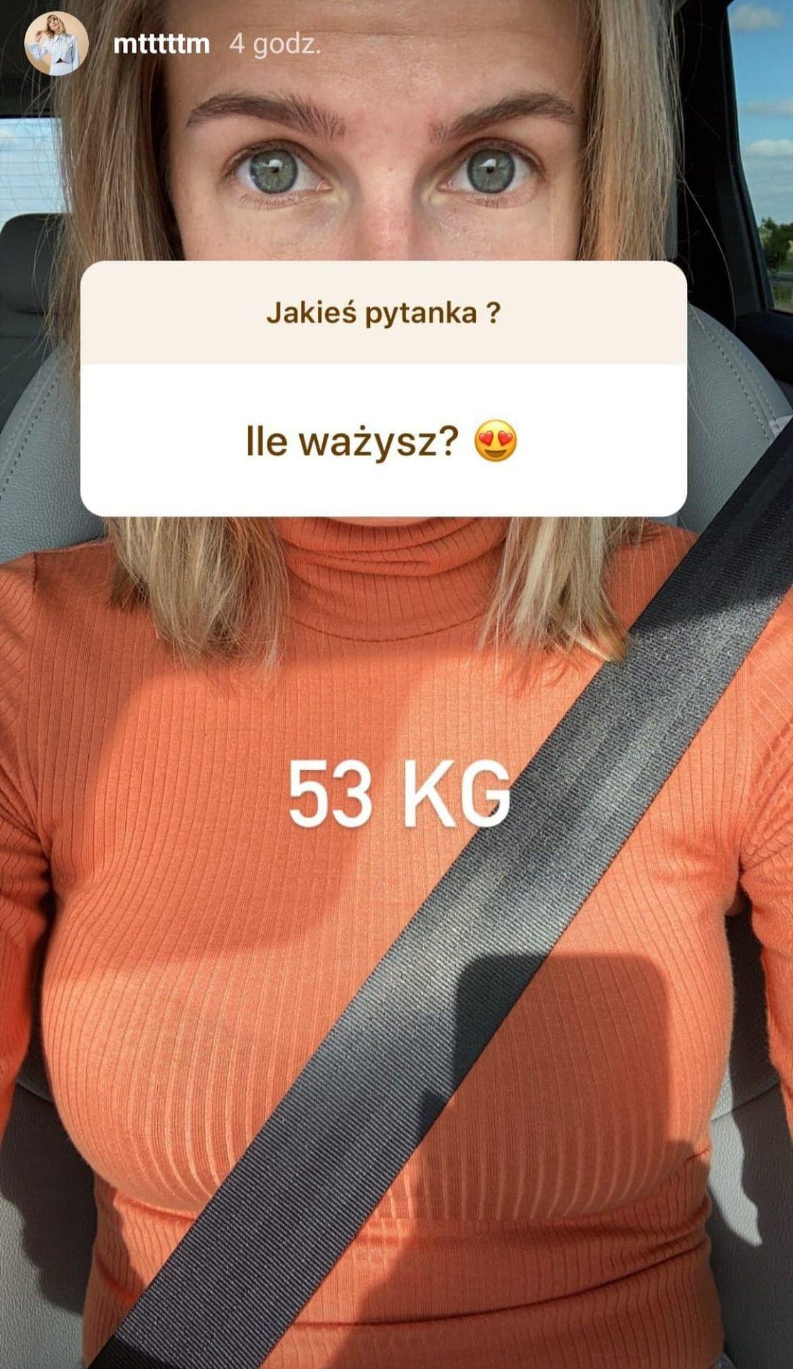 Marta Wierzbicka zdradza, ile waży