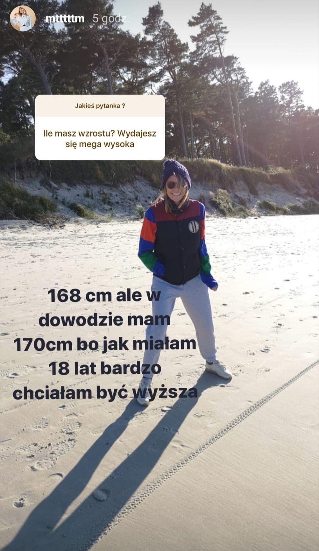 Marta Wierzbicka powiedziała. ile ma wzrostu