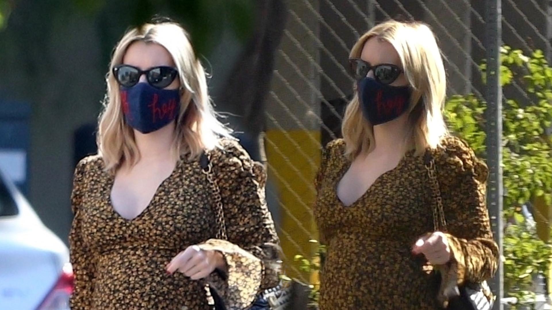 Emma Roberts nawet w ciąży wygląda stylowo. Postawiła na MODNE buty