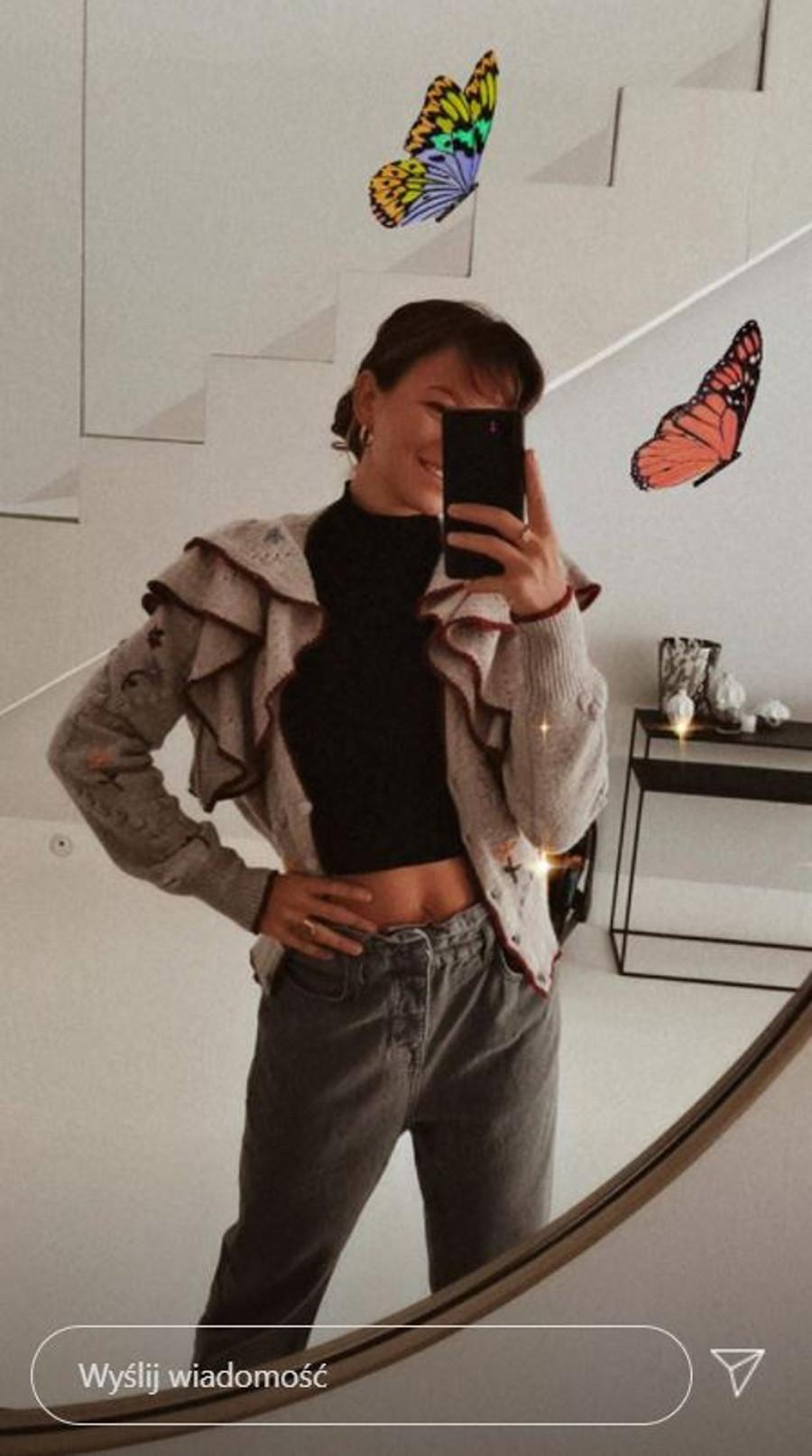 Ania Lewandowska pokazała płaski brzuch.