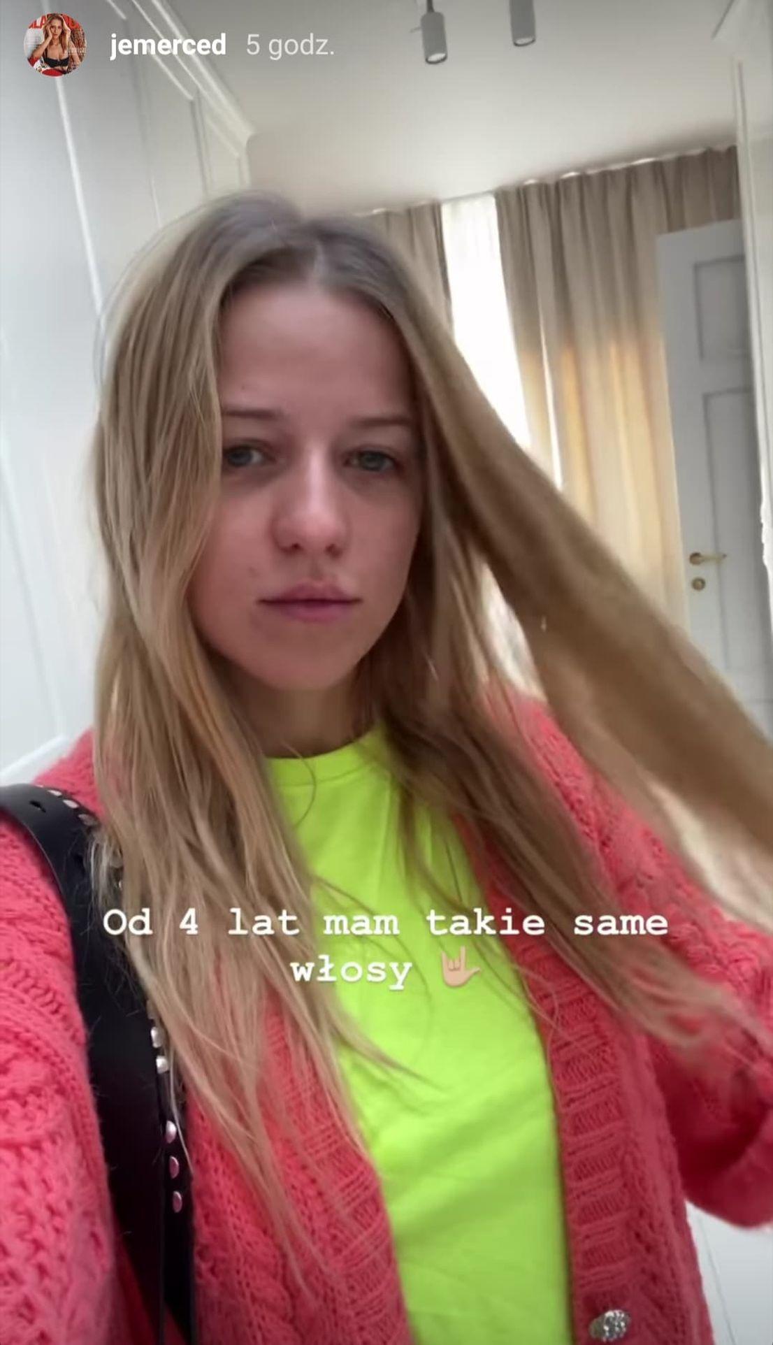 Jessica Mercedes przed wizytą u fryzjera