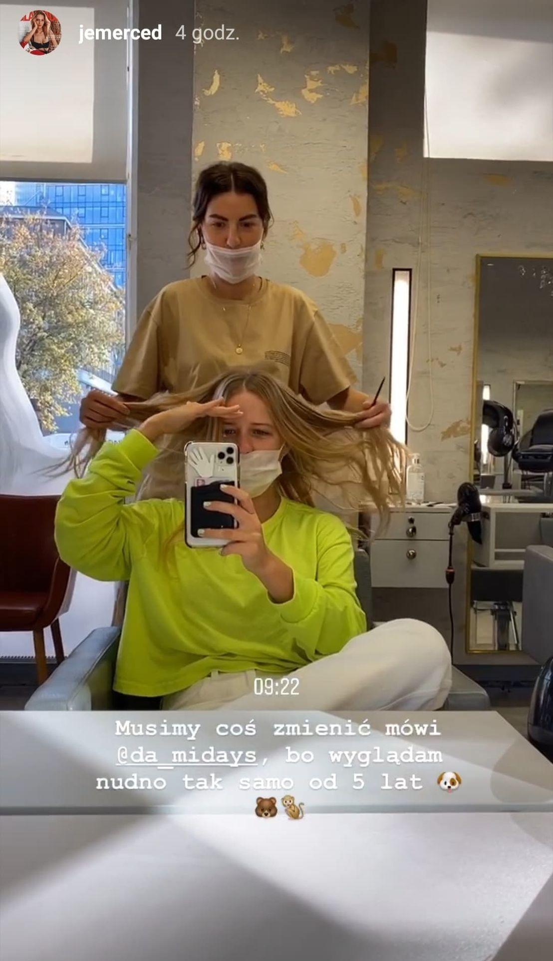 Jessica Mercedes obcięła włosy
