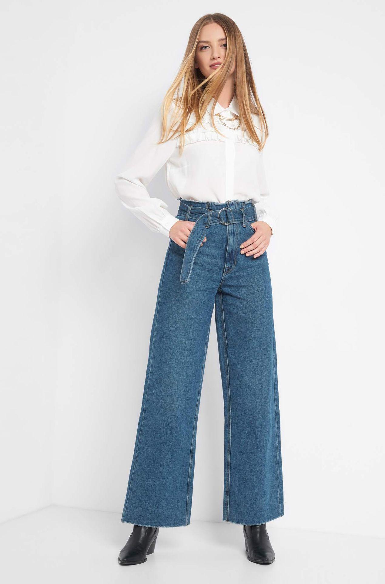 Spodnie z rozszerzaną nogawką