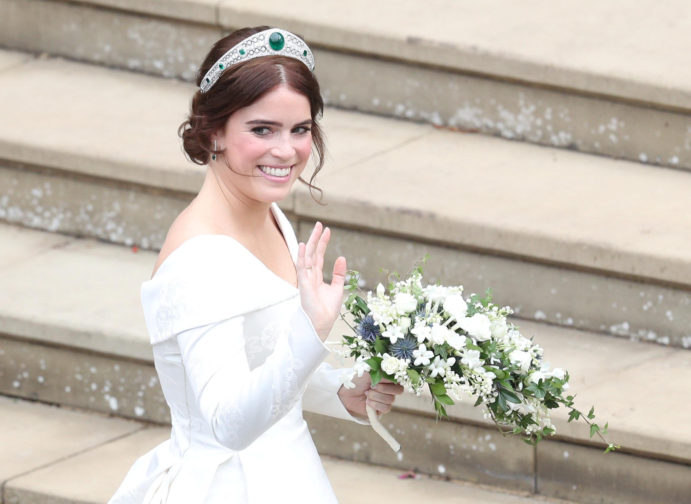 Księżniczka Eugenia w sukni ślubnej