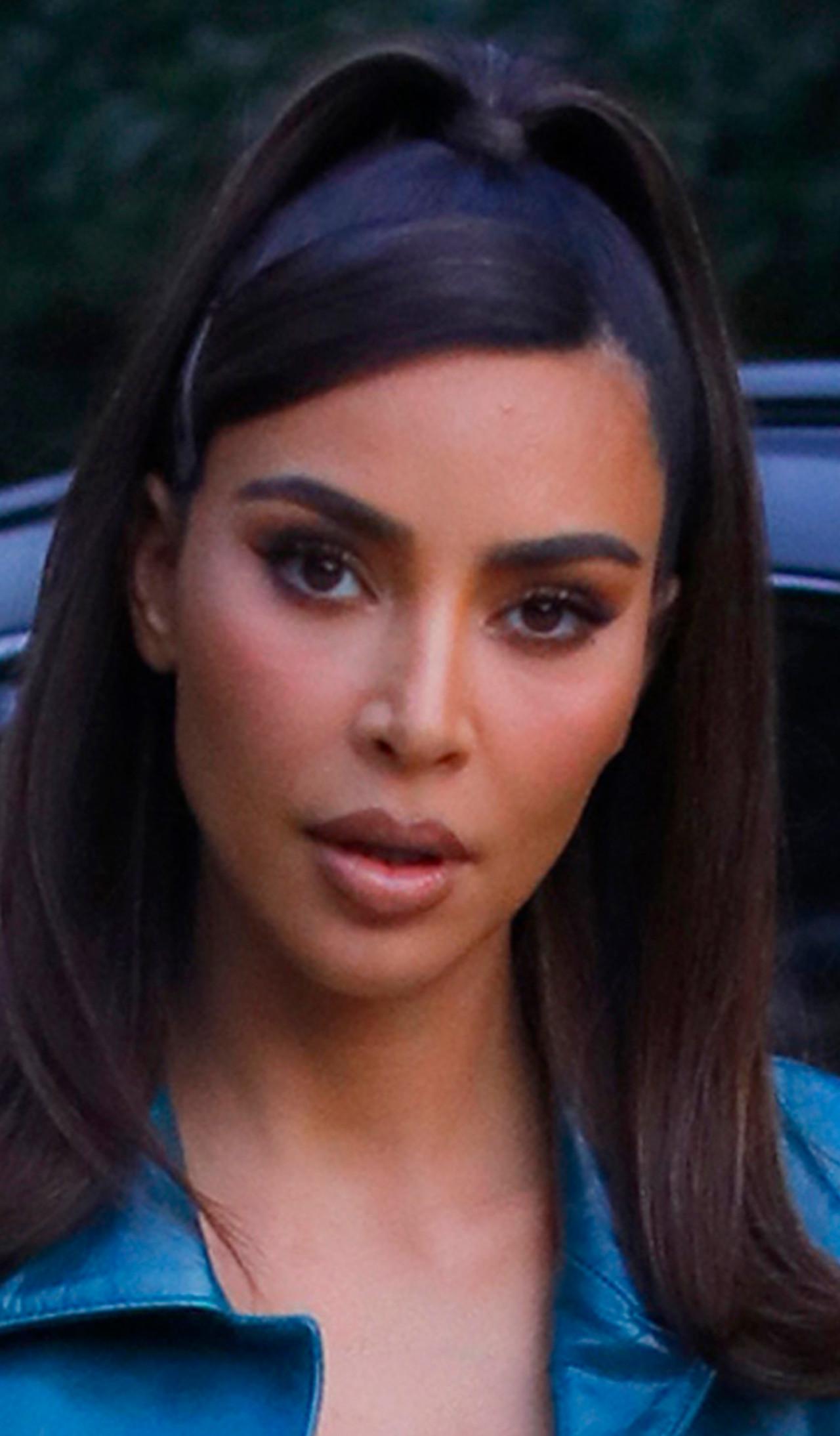 Kim Kardashian w jesiennej stylizacji.