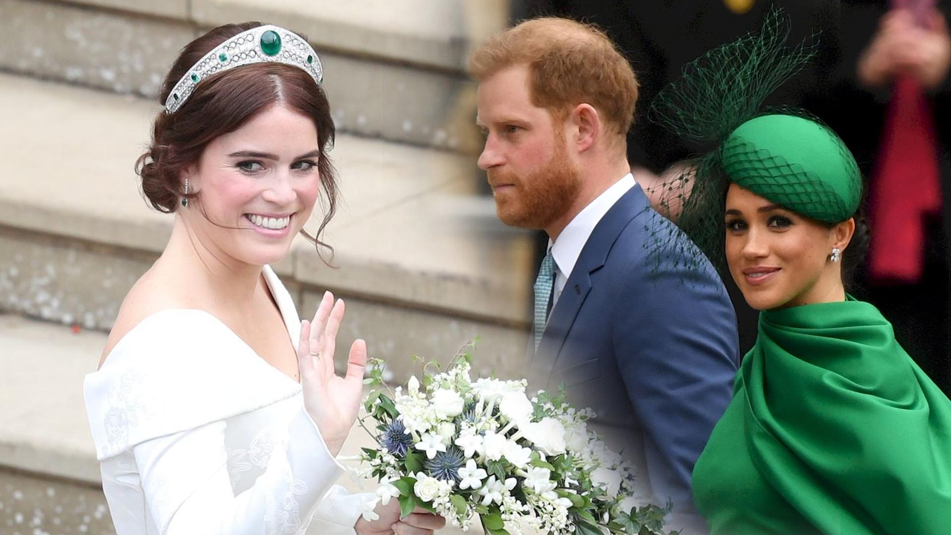 Ogłosili ciążę na jej ślubie. Jak Meghan i Harry zareagowali na to, że księżniczka Eugenia spodziewa się dziecka?