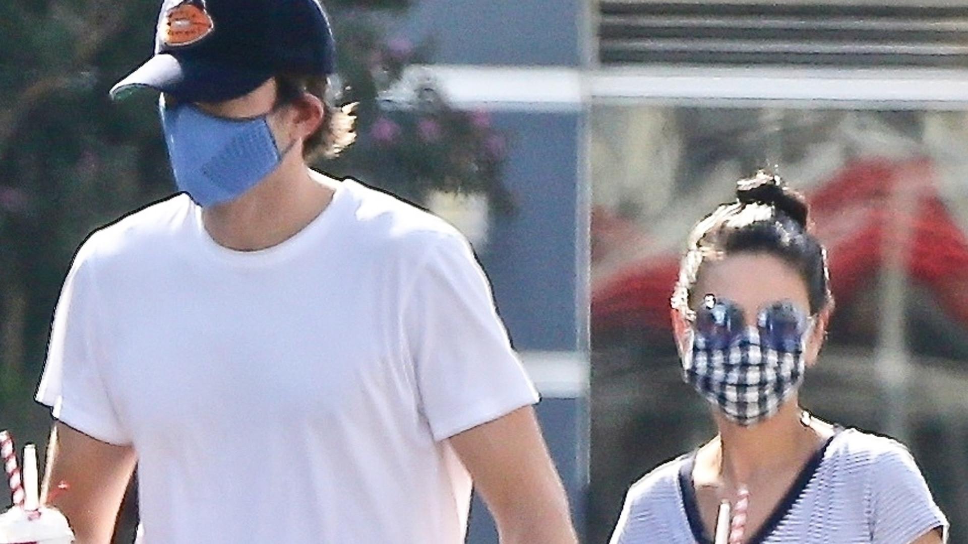 Mila Kunis i Ashton Kutcher zabrali dzieci na lody. Ich córeczka, Wyatt, jest już naprawdę duża (ZDJĘCIA)